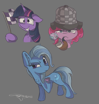 Random episode doodles by Ferasor