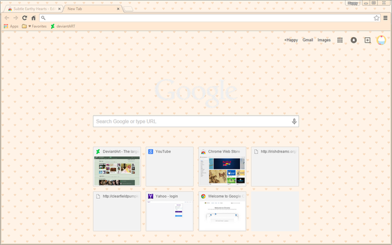 Coffee Hearts - Google Chrome Theme by Sleepy-Stardust