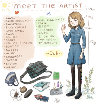 Meet the artist meme by Juli556