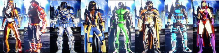 DC Universe Characters by jaggedice200