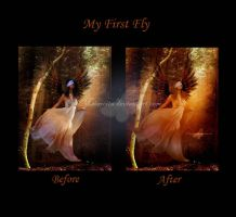 My First Flight Before and After by maiarcita