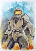 Halo Master Chief - Finished by LaurenGibson