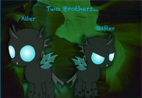 Two Changelings: Brothers in Hooves by Grazehunter