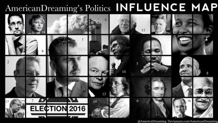 Politics Influence Map by AmericanDreaming