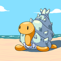 Alolan Shuckle by Fable-Amare