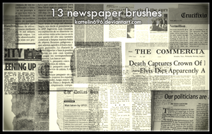 Newspaper Brushes by Kattelin696
