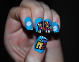 Disney UP nail art by Maynesss