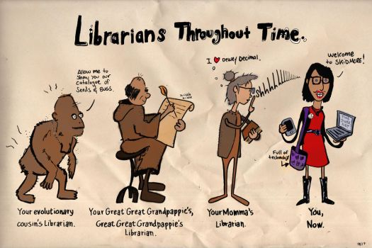 Librarians Throughout Time by JBinks