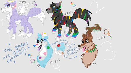 Wolf Adoptables by mlpchrysalis1233