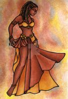 Nubian Sister Belly Dancer by LaceChenault