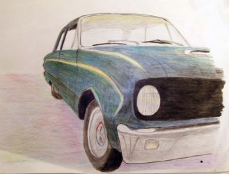 drawing of my '62 Ford Falcon by adderx99