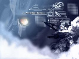 Armored Core Indigo Wallpaper by GetterDragon