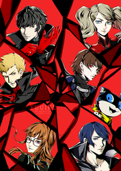 Persona 5 - All-out Attack [+Speedpaint] by yuuike