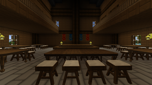 Inn Common Room with Stage by crimsonvermillion