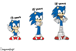 Sonic - Growing Up by Infinity-Drawings