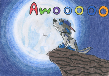 Awooooo by Tails--the--Fox