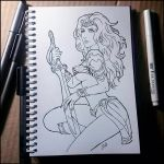 Sketchbook -  Princess Amethyst (NSFW on Patreon) by Candra