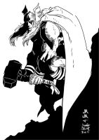 Thunder God ROMITA JR my INKS by JamesLeeStone