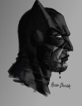 Quick Batman Sketch by Hugo-Souza