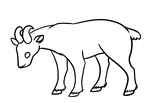 Free Goat Lineart by BlaideBlack
