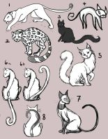 Cat tattoo sketches by RivkaZ