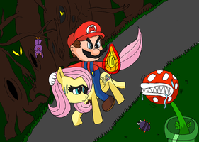 Mario and Fluttershy 2 by TMan5636
