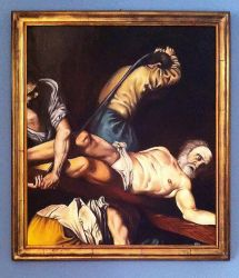 Crocifissione di San Pietro (copy from Caravaggio) by Thelothian