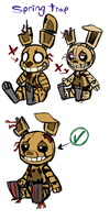 SpringTrap Plush concept art revamp by Skeleion