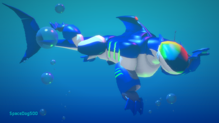 Kyle swimming in 3D by SpaceDog500
