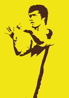 Bruce Lee silhouette by EvilLion