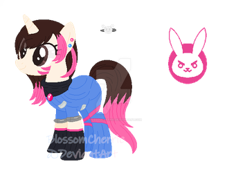 D.va inspired Pone Custom by BlossomCherrie