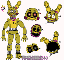 (OC) :Robotic Popo: Reference Sheet by PixelKirby340