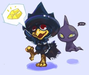 Murkrow and Shuppet by capcomcc