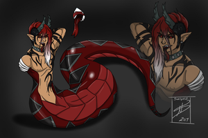 Custom Naga Adopt for DanteKizu by shaygoyle