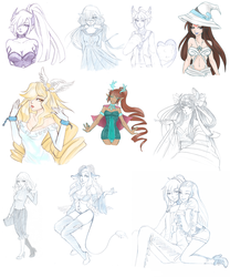Sketch Compilation 1 June-July by MamimiRu
