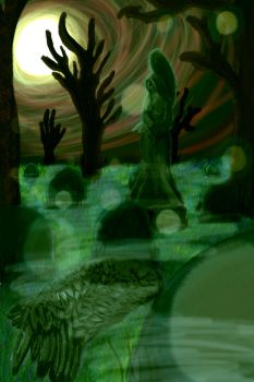 Angel Graveyard 2 by LedStripedDoors21