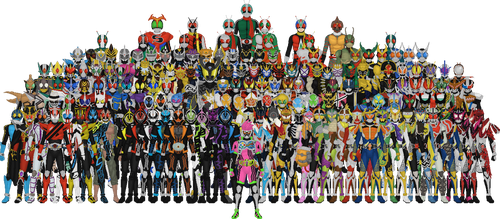 All Kamen Riders by Taiko554