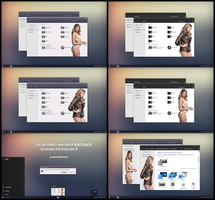 Sexy Girl Theme Win10 April 2018 Update by Cleodesktop