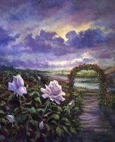 From A Veil Of Mist, Light And Lavender Blue by Rbpainter