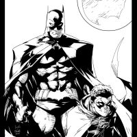 Batman n Robin Capullo INKS by JamesLeeStone