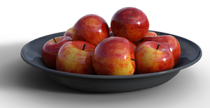 Free Stock PNG:  Bowl of Apples by ArtReferenceSource