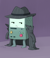 Private Inspector BMO by YellowHellion