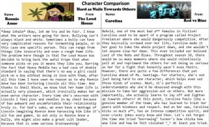 Character Comparison #19: Hard as Nails To Others by RaccoonBroVA
