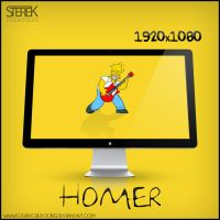 Homer Simpson - Wallpaper by SterekCreations