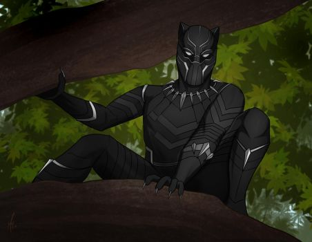 Black Panther by SumtimesIplaytheFool