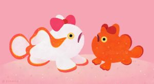 Ribbon Frogfish by pikaole