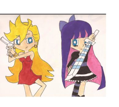 panty and stocking by hotaru213