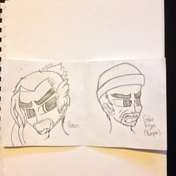 Practicing Drawing Overwatch- Hanzo and Gabe Reyes by Riyana2
