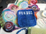 Felted TARDIS and Time Vortex - WIP by The-Tinidril