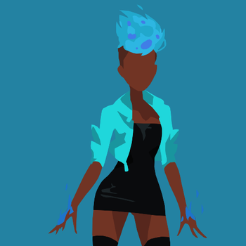Amira/Red Minimalist Profile Picture v2 by SlowNebula